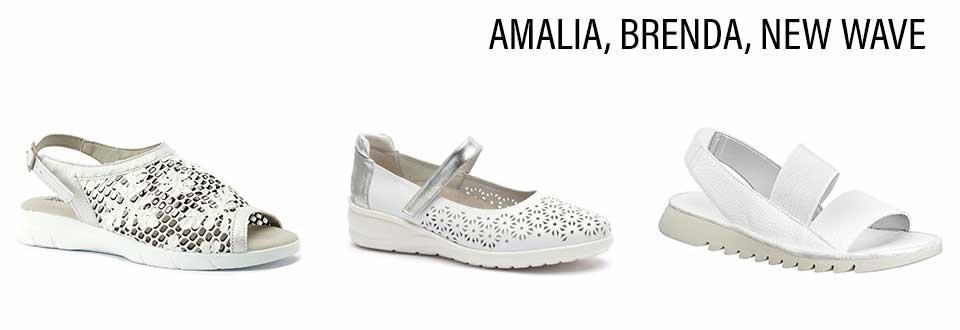 Arcopedico Amalia, Klouds Brenda White Silver and The Flexx New Wave